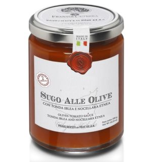 OLIVES TOMATO SAUCE VARIETIES TONDA IBLEA AND NOCELLARA