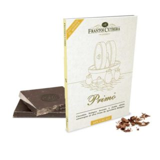 "<b>ORGANIC</b> CHOCOLATE OF MODICA ""PRIMO<sup>®</sup>"" & PRIMO<sup>®</sup> OLIVE OIL (60% COCOA)"