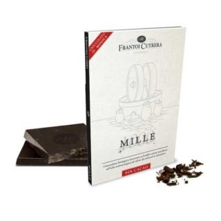 """<b>ORGANIC</b> CHOCOLATE OF MODICA """"PRIMO<sup>®</sup>"""" & MILLE<sup>®</sup> OLIVE OIL (95% COCOA)"""