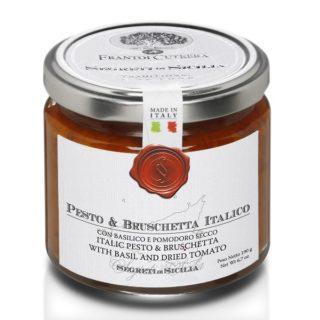PESTO & BRUSCHETTA ITALICO CON BASILICO E POMODORO SECCO