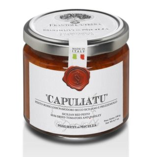 <b>CAPULIATO</b> PESTO WITH DRIED TOMATO AND PARSLEY